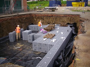 Stormwater Storage tank installation