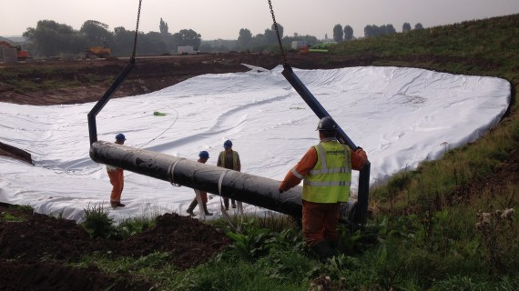 Geomembrane Installation Lining