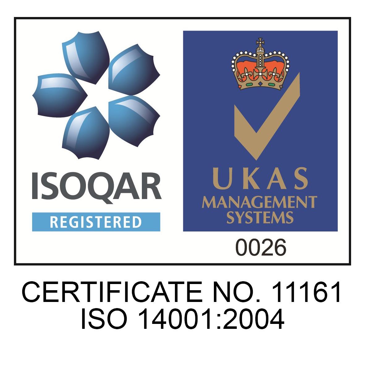 UKAS ISOQAR LOGO 14001