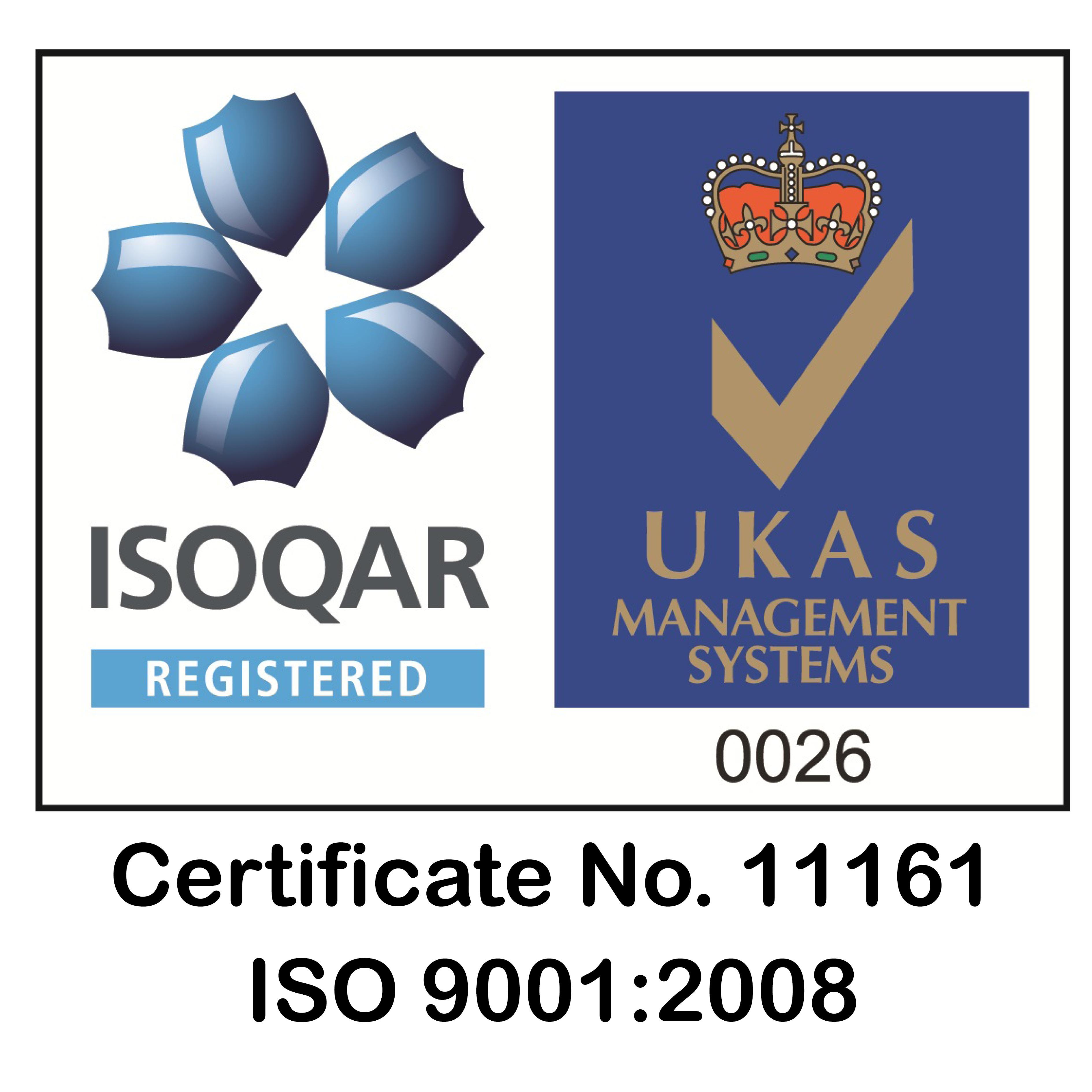 UKAS ISOQAR LOGO 9001